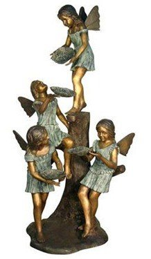 """25: """"FOUR ANGELS"""" BRONZE FOUNTAIN"""