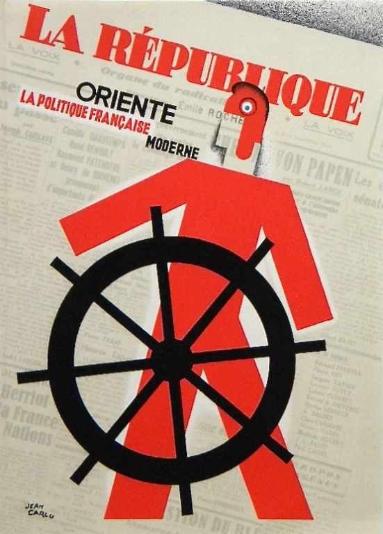 "1231: JEAN CARLU ORIGINAL LITHOGRAPH ""LA REPUBLIQUE"""