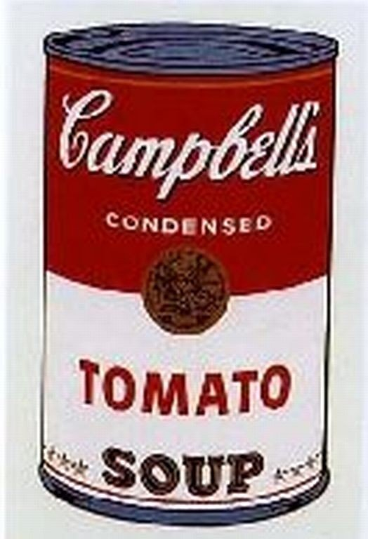 """4: WARHOL SERIGRAPH """"CAMPBELL'S SOUP CAN"""""""