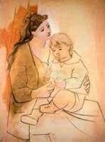 """7: PICASSO """"MOTHER AND CHILD"""""""
