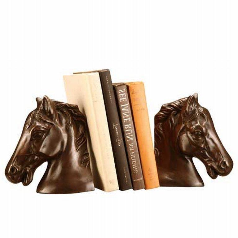 11: BRONZE HORSE HEAD BOOKENDS