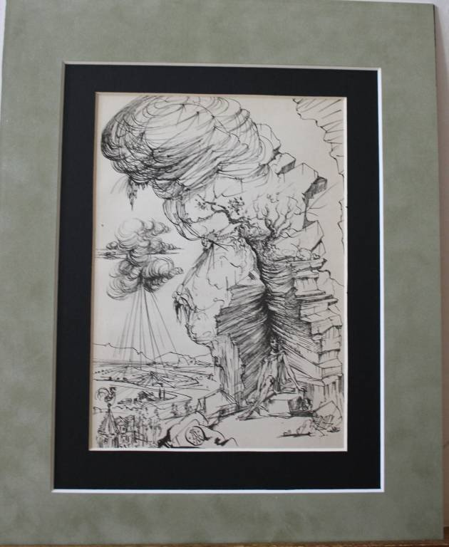 1: RARE ANTIQUE 1944 DALI LITHOGRAPH