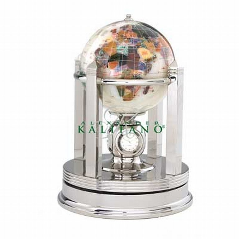 "29: KALIFANO 6"" GALLEON GEMSTONE GLOBE"