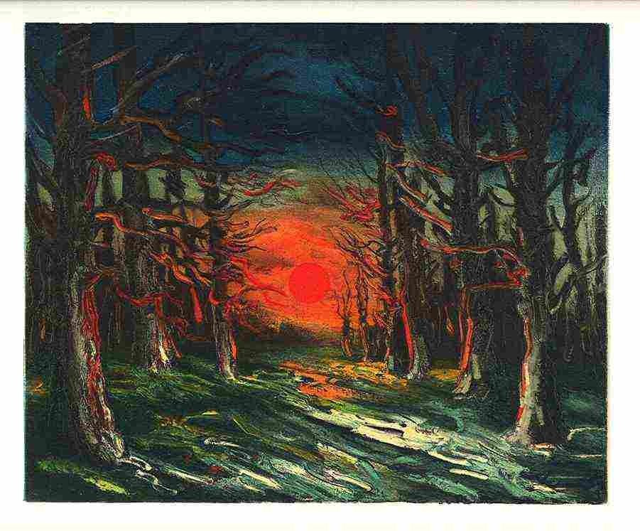 "31: VLAMINCK ""THE FOREST OF SENONCHES"" LITHOGRAPH"