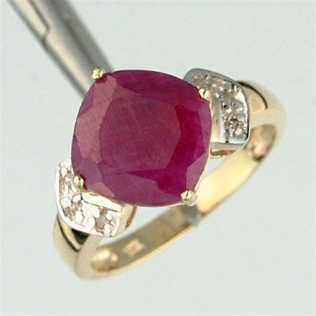 1217: 3.0 CTW. RUBY & DIAMOND RING - 10KY GOLD