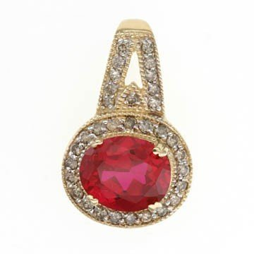12: 5.0 CTW. RUBY & DIAMOND PENDANT IN 10KY GOLD