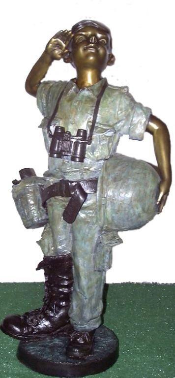 """38: """"SOLDIER BOY"""" JUMBO BRONZE SCULPTURE"""
