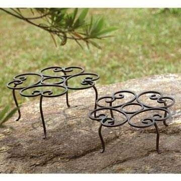 5: SCROLL PLANTER STANDS SET OF 2