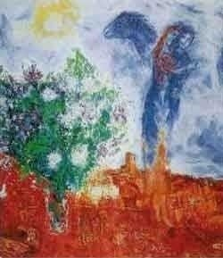 """11: MARC CHAGALL """"COUPLE ABOVE ST. PAUL"""""""