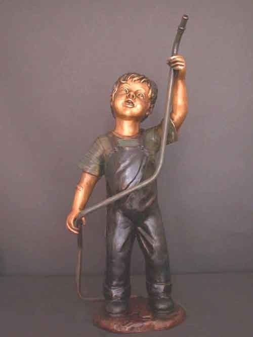 """21: """"CHILD WITH HOSE"""" BRONZE FOUNTAIN"""
