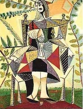 """7: PICASSO """"GIRL IN COLORFUL DRESS"""""""