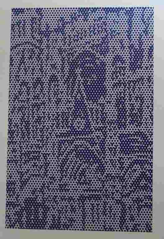 """13: LICHTENSTEIN """"CATHEDRAL #3"""" LITHOGRAPH 1969"""