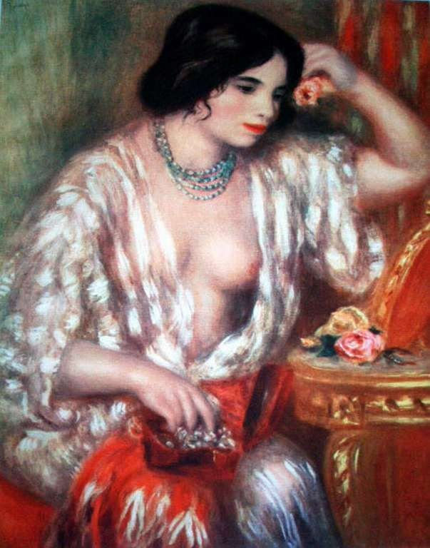 """27: RENOIR """"GABRIELLE AND THE JEWELS"""" LTD. GICLEE'"""