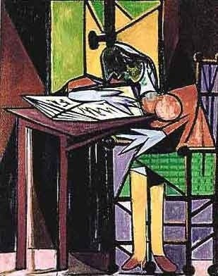 """197: PICASSO """"GIRL READING AT DESK"""""""