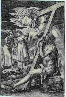 """HENDRIK GOLTZIUS ENGRAVING """"CHRISTUS ALS SCHMERZENSM"""