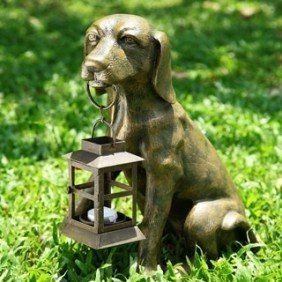 PUPPY LANTERN CANDLE HOLDER