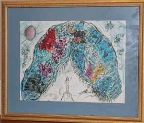 25: MARC CHAGALL HAND SIGNED LITHOGRAPH IN COLORS