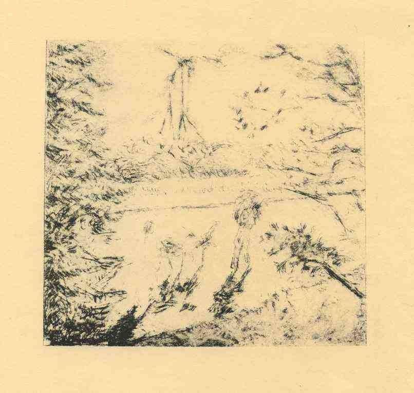 "21: BONNARD ""PROMENADE DES CHEVRES"" ORIGINAL LITHOGRAPH"