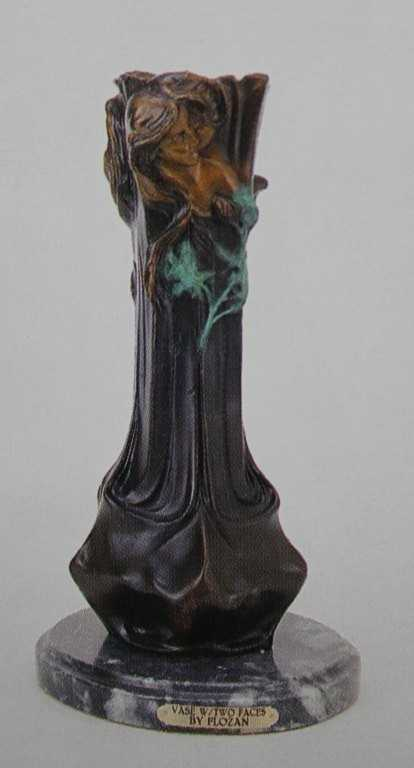 135 Faces Vase Bronze Sculpture Loran