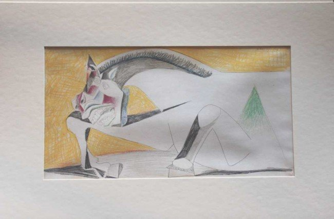 """120: PICASSO """"STUDY OF GUERNICA"""" - 1937 - MINT"""