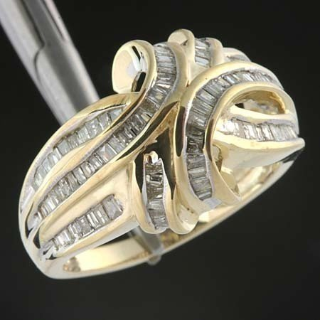 228: 1.0 CTW. DIAMOND CHANNEL SET RING - 10KY GOLD