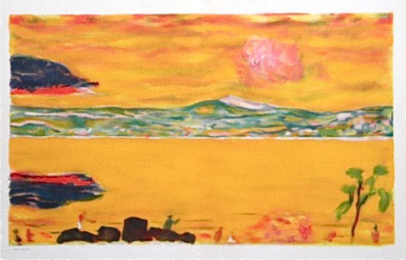 """22: PIERRE BONNARD """"SUNSET ON THE MEDITERRANEAN"""""""