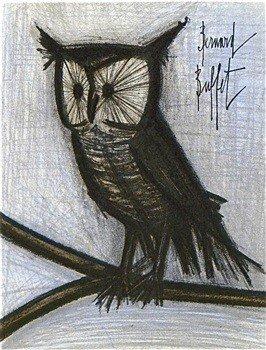 """40: BUFFET ORIGINAL LITHOGRAPH """"THE LITTLE OWL"""""""