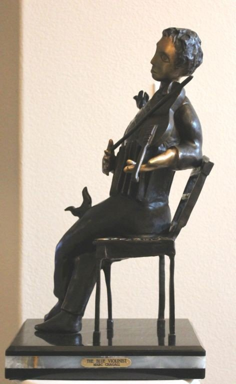 """7: CHAGALL'S - """"THE BLUE VIOLINIST"""""""