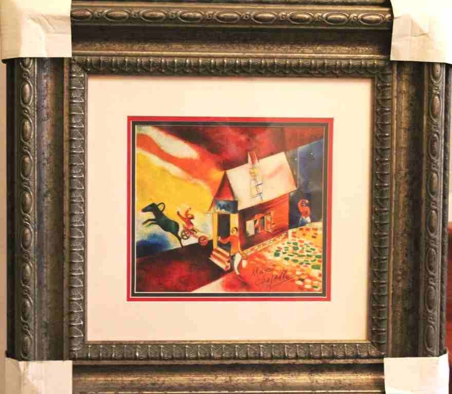 105: CHAGALL - HAND SIGNED LITHOGRAPH