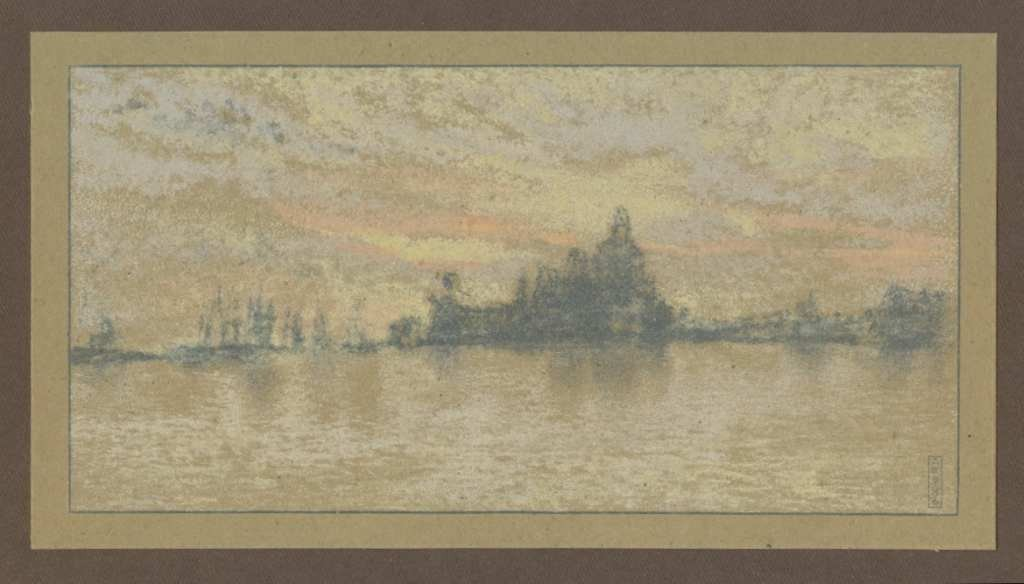 "100011: JAMES WHISTLER LITHOGRAPH ""SUNSET, VENICE"" 1905"