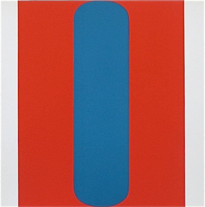 """200022: KELLY SILKSCREEN """"RED-BLUE""""  (1967)"""