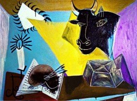 "300013: PICASSO ""STILL LIFE WITH CANDLE,PALETTE AND BLA"