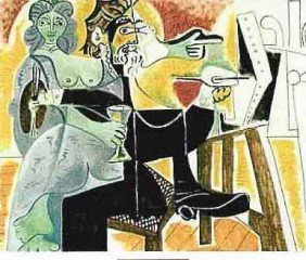 "300035: PICASSO ""COUPLE WITH DRINKS"""