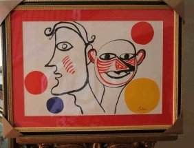 300109: CALDER - HAND SIGNED LITHOGRAPH
