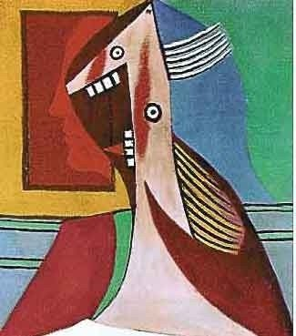 """300377: PICASSO """"LAUGHING LADY WITH TEETH SHOWING"""""""