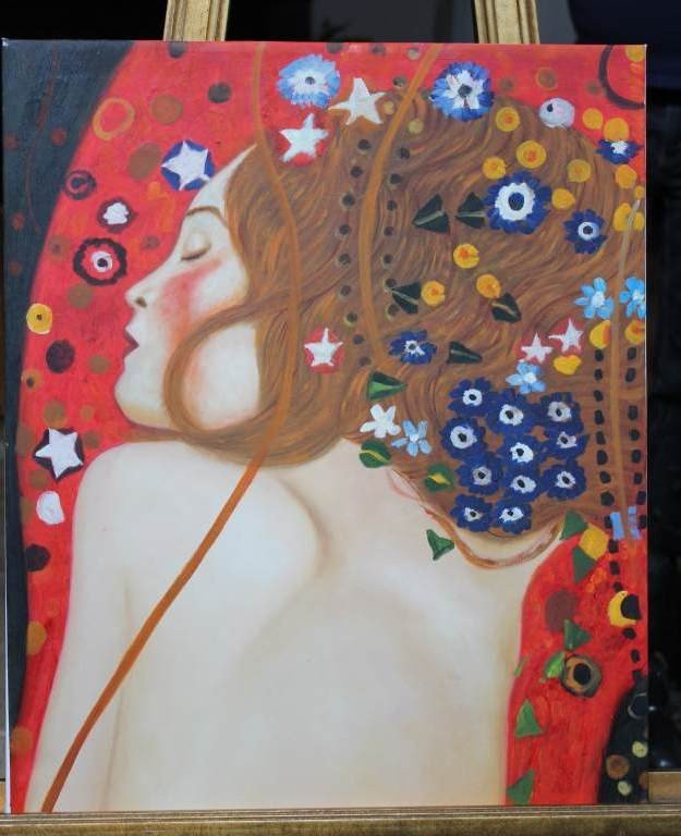 300995: GUSTAV KLIMT - OIL ON CANVAS - REPRODUCTION