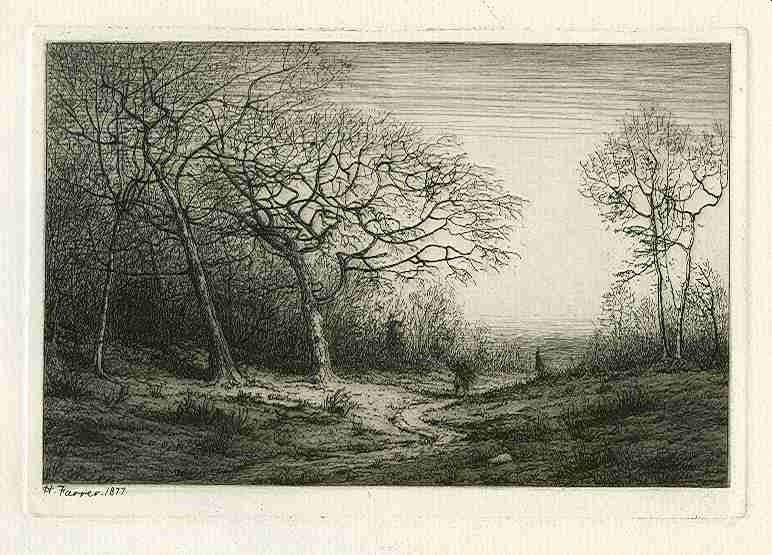 "400006: HENRY FARRER ORIGINAL ETCHING ""DECEMBER"""