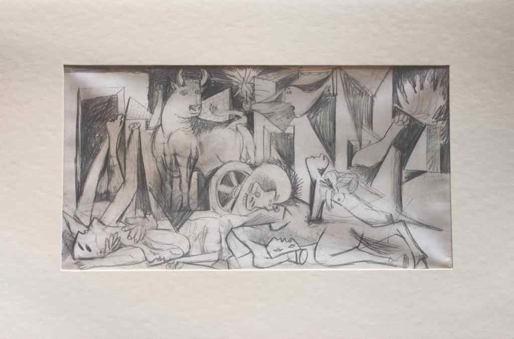 "400398: PICASSO ""STUDY OF GUERNICA"" - 1937 - MINT"