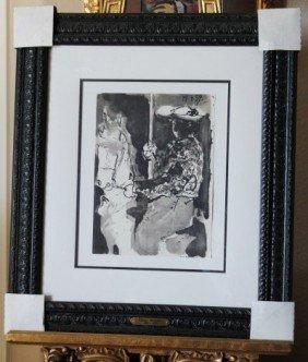 PICASSO ORIGINAL LITHOGRAPH 1961- TORO Y TORERO