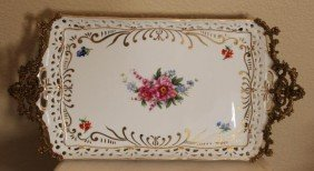 400025: ITALIAN PORCELAIN HAND PAINTED TRAY