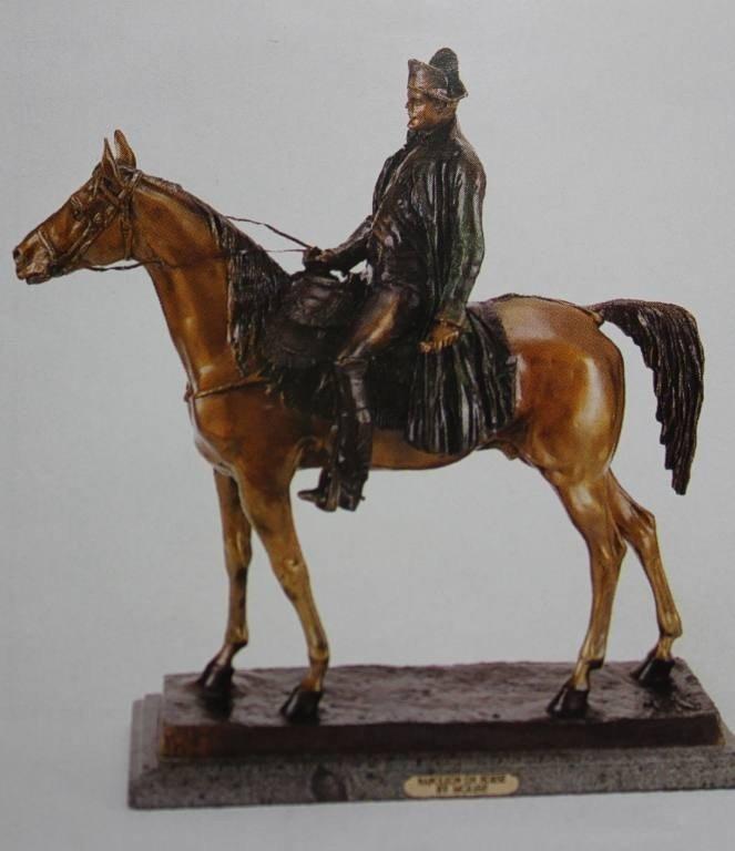 """500803: """"NAPOLEON ON HORSE"""" BRONZE SCULPTURE - MOLISE"""