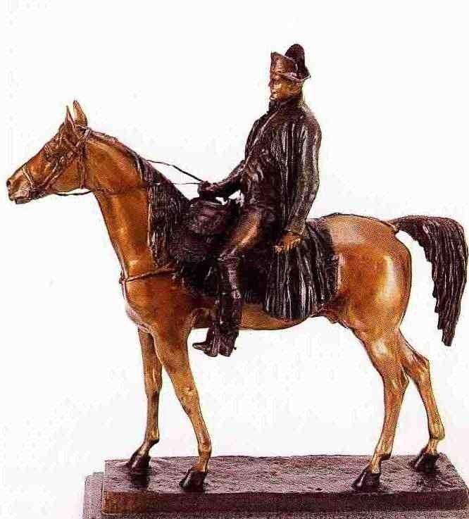 """500803: """"NAPOLEON ON HORSE"""" BRONZE SCULPTURE - MOLISE - 2"""