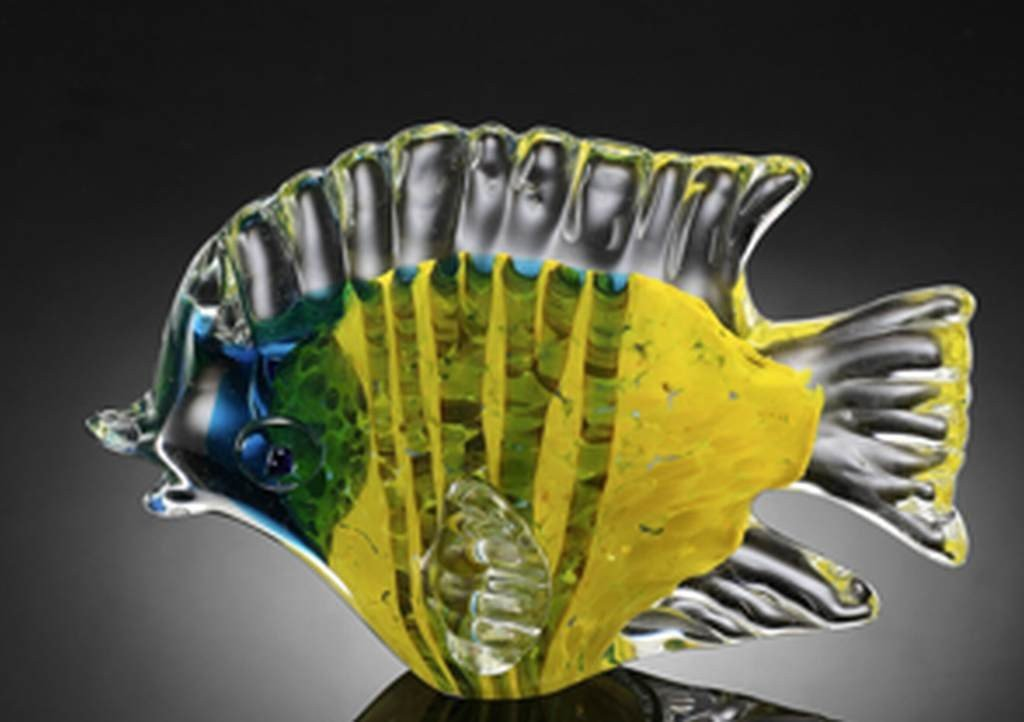 600016: ART GLASS TROPICAL FISH