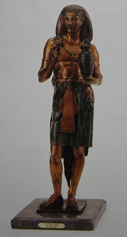 """600032: """"EGYPTIAN BOY"""" BRONZE SCULPTURE - PICAULT"""