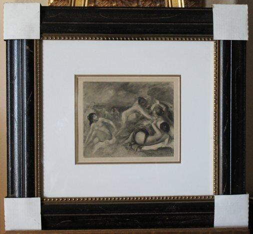 600015: ANTIQUE RENOIR ORIGINAL HELIOGRAVURE - 1919