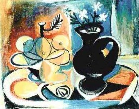 """700021: PICASSO """"FRUIT WITH VASE OF FLOWERS"""""""