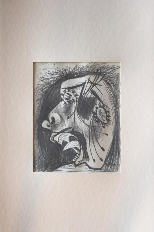 "700029: PICASSO ""STUDY OF GUERNICA"" - 1937 - MINT"