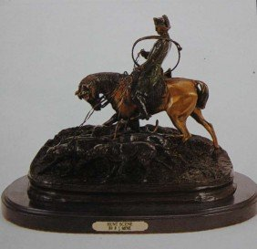 """HUNT SCENE"" BRONZE SCULPTURE - MENE"