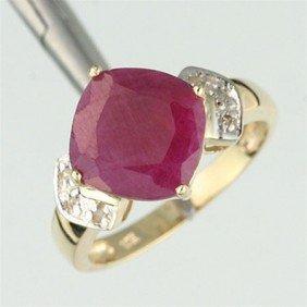 700041: 3.0 CTW. RUBY & DIAMOND RING - 10KY GOLD