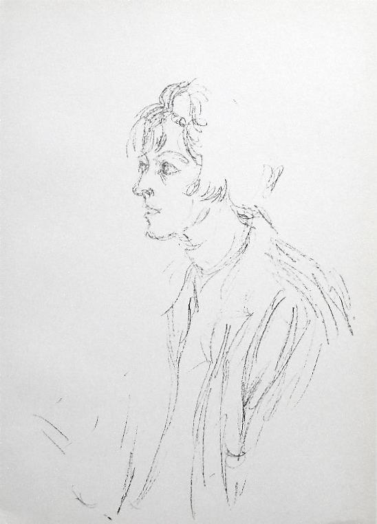 800028: ALBERTO GIACOMETTI ORIGINAL LITHOGRAPH, 1964